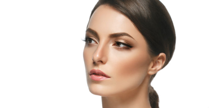 womans clear and smooth skin face after acne scars treatment