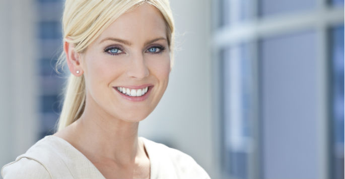 woman after cosmetic treatment
