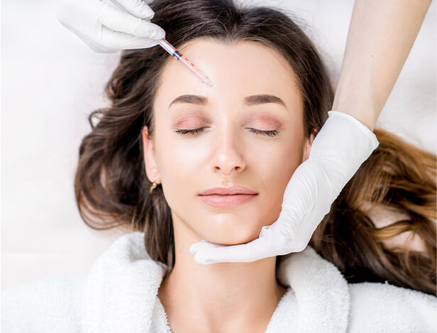 woman undergo safe dysport and botox treatment bowling green
