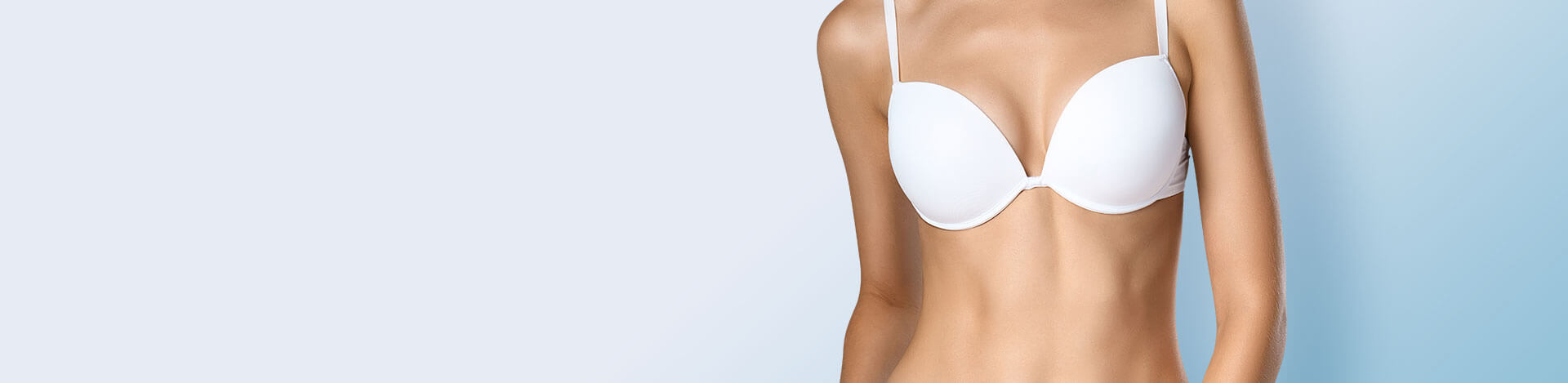 woman flawless breast implant result