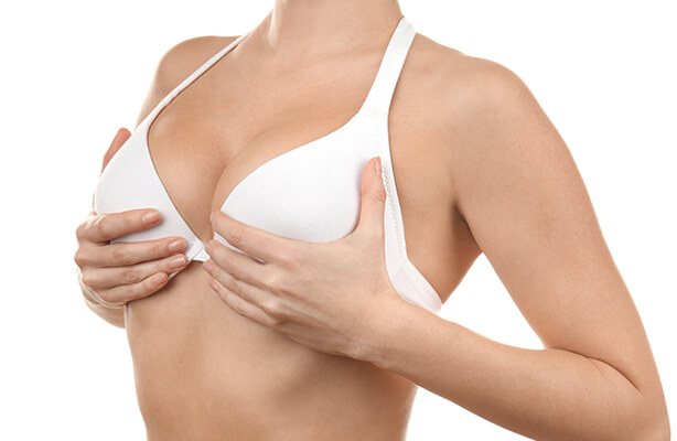 woman after specialized breast lift procedure
