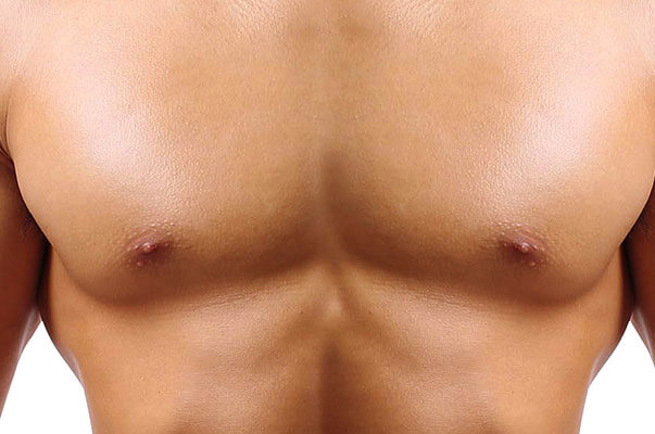 mans toned breast after surgery