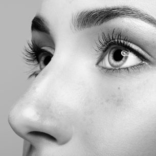 Image of Woman's Eyes and Nose