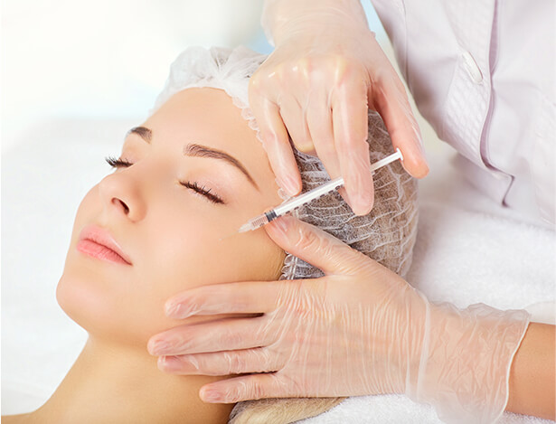 Med Spa Image of Woman Receiving Facial Fillers