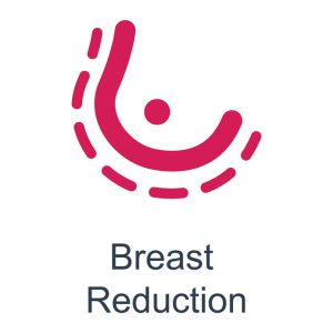 infographic for  a breast reduction procedure