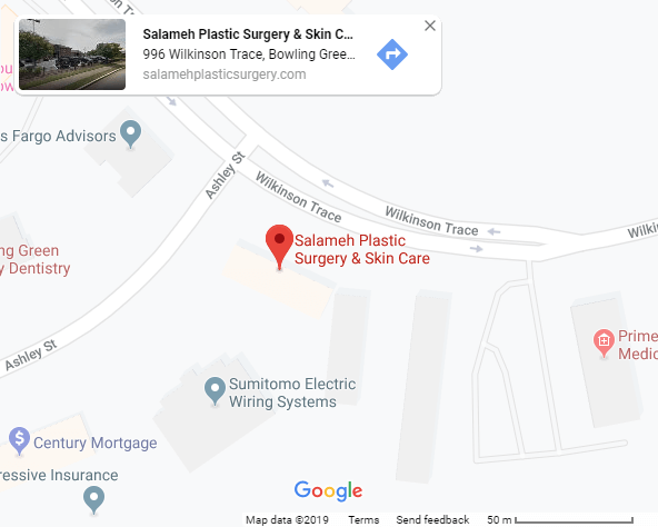 Salameh Plastic Surgery and Skin Care Located on Map