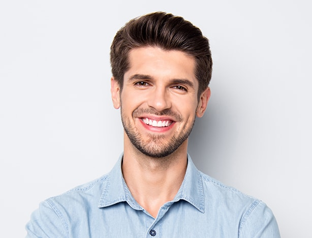 Man With Brown Hair Smiling