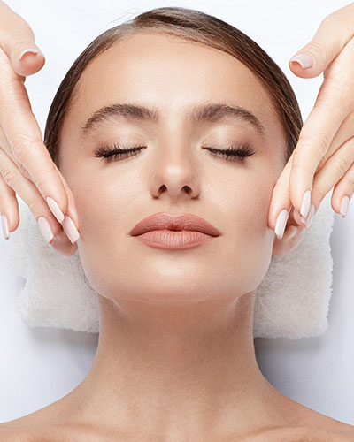 Image of Woman With Perfect Skin on Spa Table