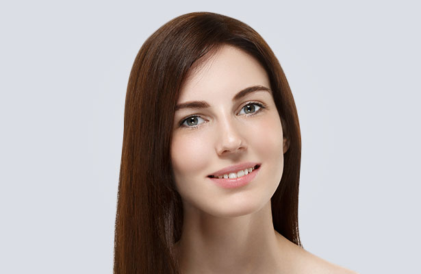 womans defined facial structure