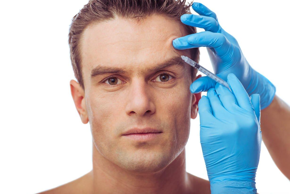 close-up of a man's face