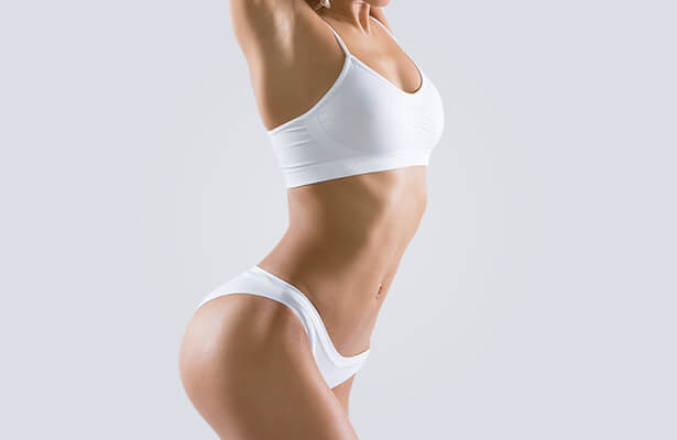 womans fit and toned body