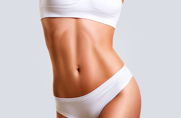 flat and toned womans body