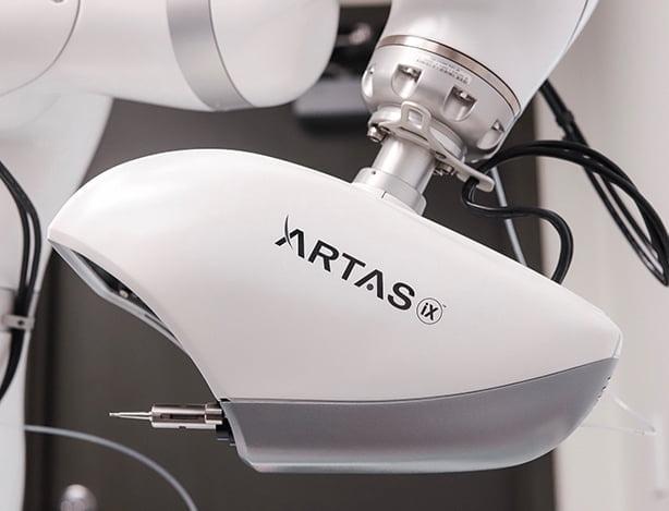 close up of artas machine