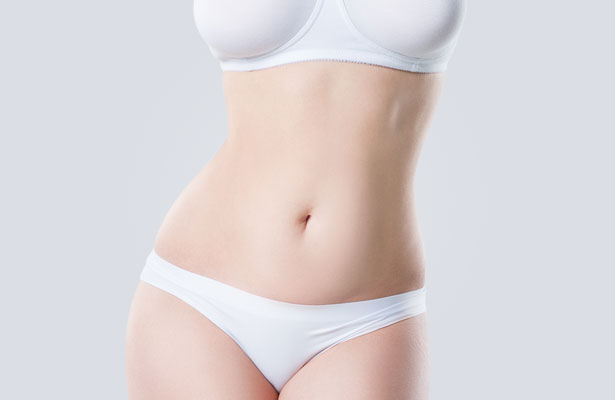 Womans Mid Section Tummy Tuck Result