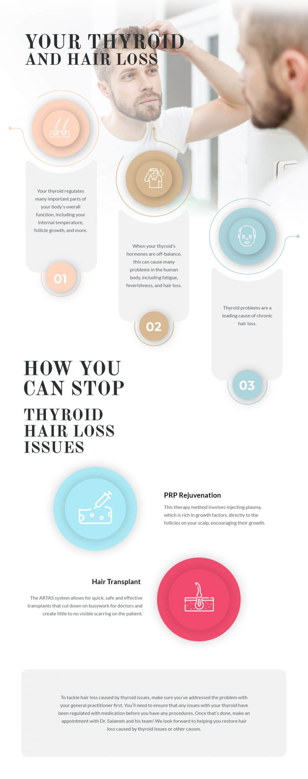 thyroid and hair loss infographic