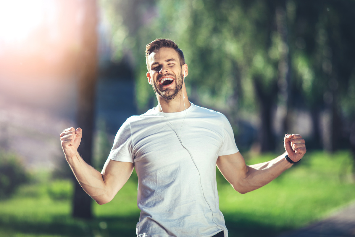 photo of a man laughing