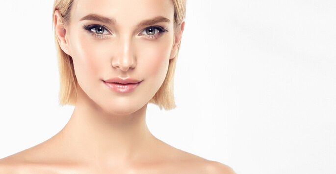 defined and contoured facial structure
