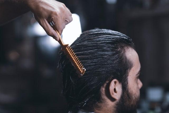 A man at a barbershop